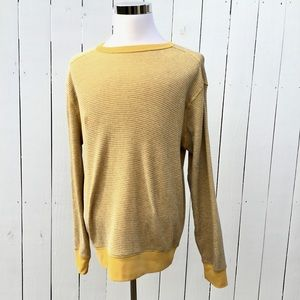 Gap Waffle Knit Long Sleeve Pullover Shirt